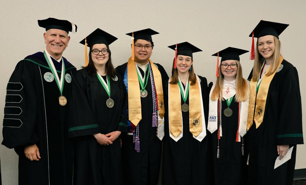 President Sands and the Valedictorians